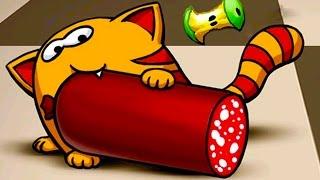 Мяу Сим #3 - ИГРАЕМ в детскую игру КОРМИМ КОТЕНКА как в мультике видео для детей #ПУРУМЧАТА