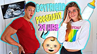 BOYFRIENDS Pregnant For 24 Hour Challenge! *Super Embarrassing*