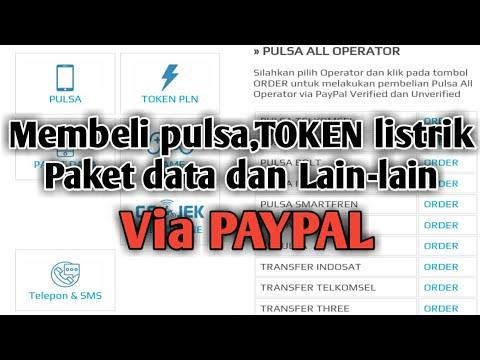 Sangat Mudah Memebeli Pulsa Via Paypal Dan Tidak Ribet Youtube