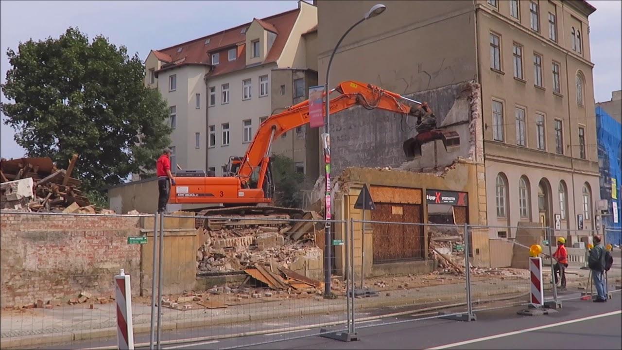 Abriss Gorlitz Bahnhofstrasse 29 Und 30 Teil 2 Youtube