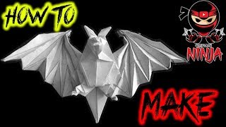 How to make: Origami Bat (Miyajima Noboru)