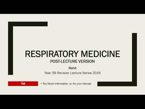 Year 3B Revision Lecture: Respirology