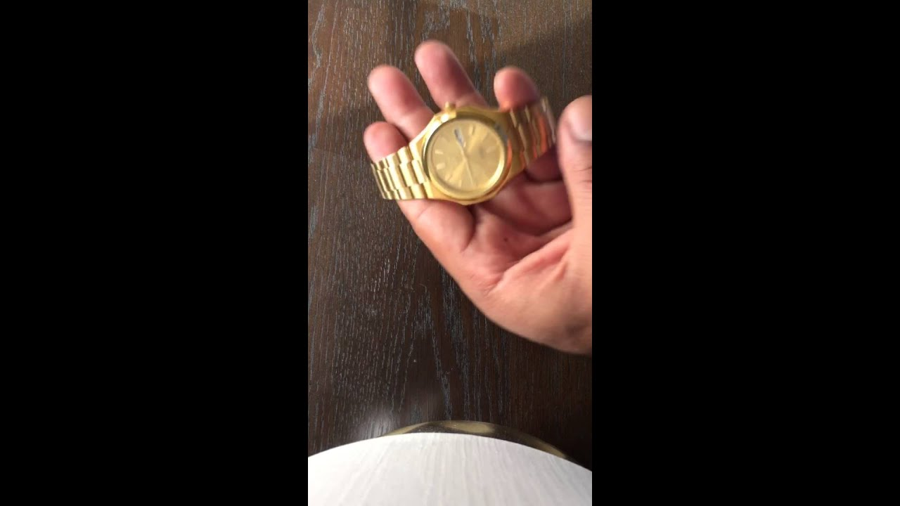Seiko 5 Snkk52 Yellow Gold Youtube
