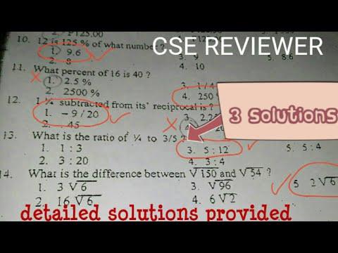 Civil Service Exam MATH REVIEWER