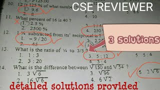 Civil Service Exam MATH REVIEWER