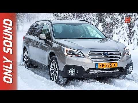 NEW SUBARU OUTBACK 2017 - FINLAND SNOW TEST DRIVE ONLY SOUND