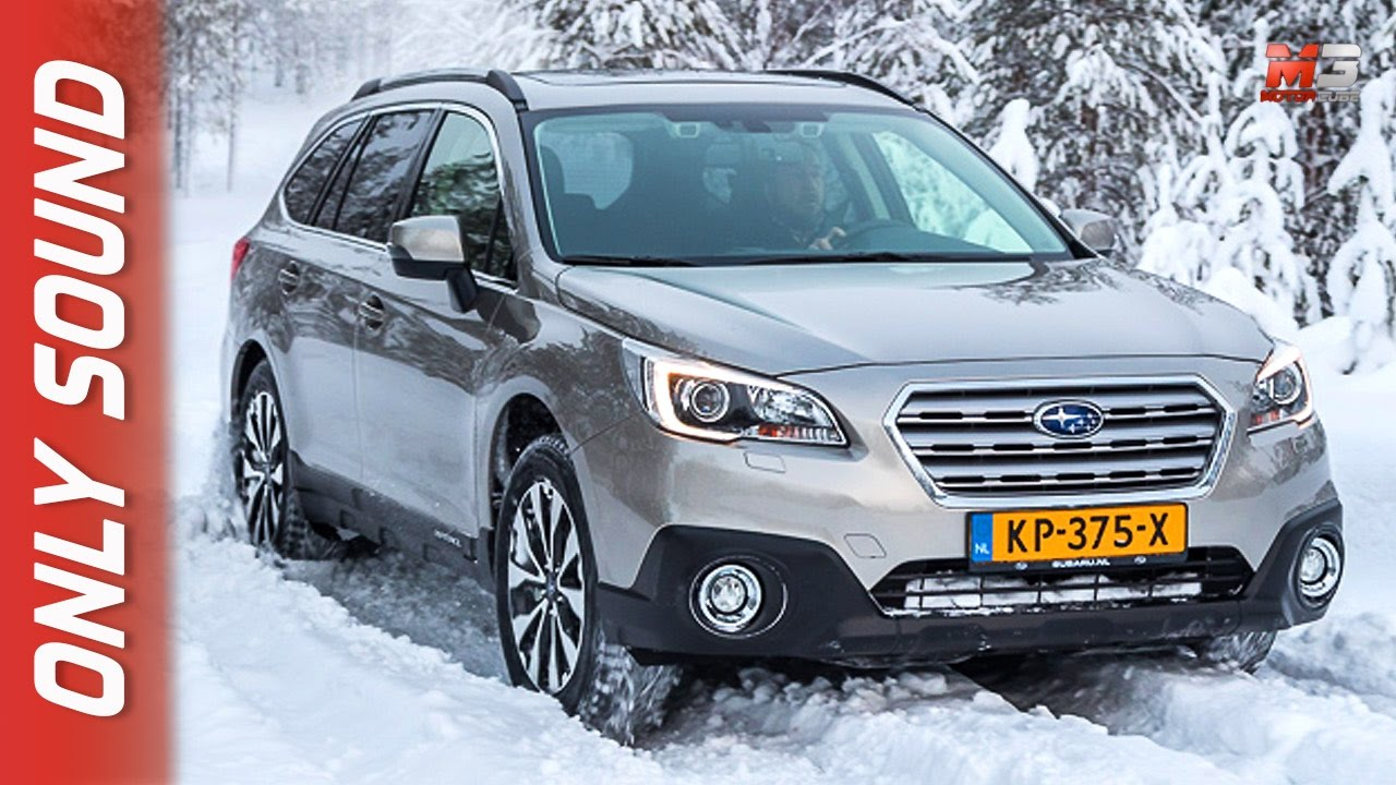 New Subaru Outback 2017 Finland Snow Test Drive Only Sound