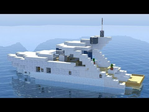 How To Build A YACHT In Minecraft
