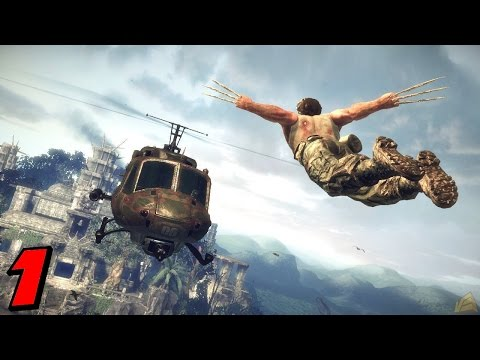 X-Men Origins Wolverine Walkthrough Part 1 Helicopter Decapitation!