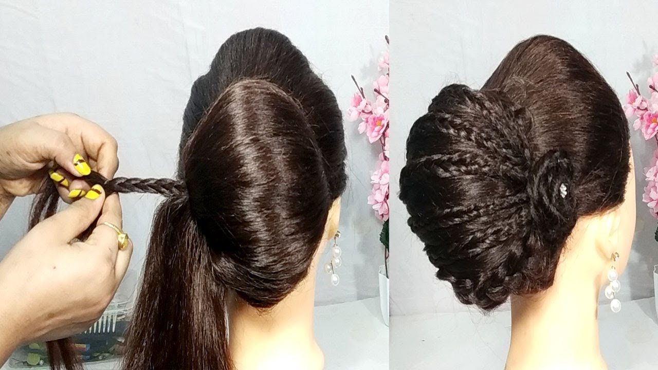 New French Bun Hairstyle For Wedding/party