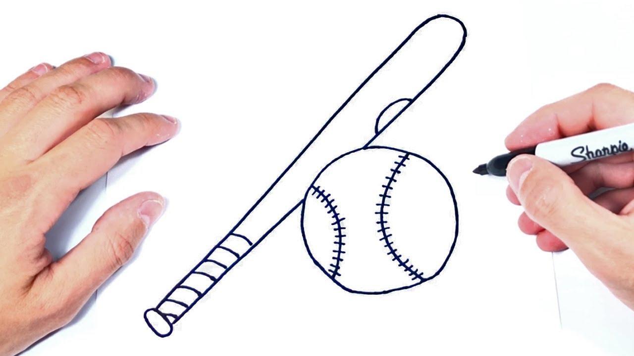Cómo Dibujar Un Bate De Baseball Paso A Paso Y Fácil