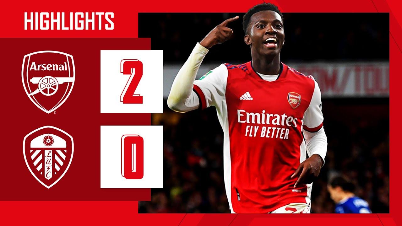 Download HIGHLIGHTS | Arsenal vs Leeds United (2-0) | Carabao Cup | Super sub Chambers & Nketiah