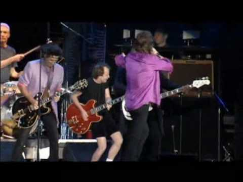 Angus & Malcolm Young with Rolling Stones - Leipzig 2003