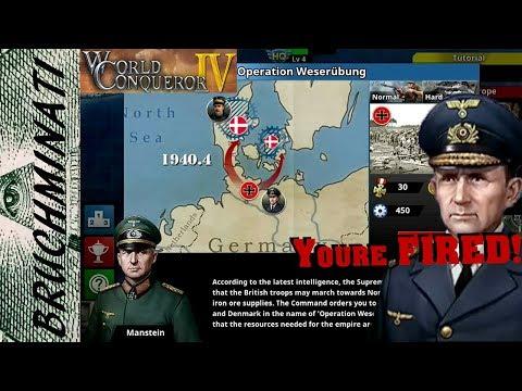 World Conqueror 4   Axis Campaign #2 Operation Weserübung (No Upgrades)