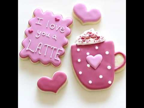 India Tree Decorating Colors Latte Love Cookies - YouTube