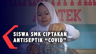 Malang, kompas.tv - sejumlah siswa smk prajnaparamita kota jawa tengah, memproduksi cairan antiseptik atau hand sanitizer di laboratorium farmasetika...