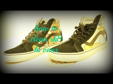 how to clean sk8 hi vans