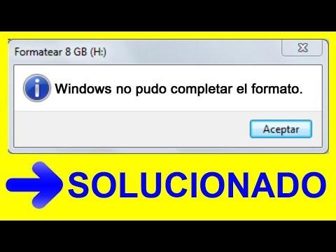 Windows NO Pudo Completar El Formato│No Puedo Formatear Mi USB 2019│SOLUCIONADO