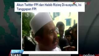 AKUN TWITTER HABIB RIZIEQ & DPP FPI DIBLOKIR
