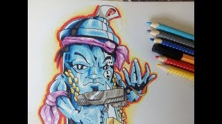 Drawing aGraffiti Character. Canster. Zeichnen eines Graffiti Character