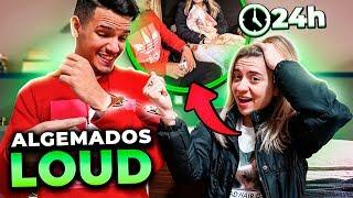 VIROU ROMANCE?! ALGEMADOS POR 24H NA MANSÃO LOUD!!
