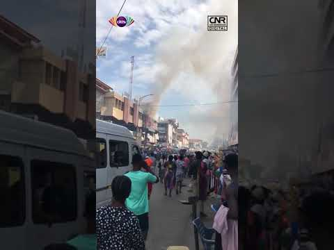 JUST IN: Fire outbreak at the Makola Market   Citi Newsroom