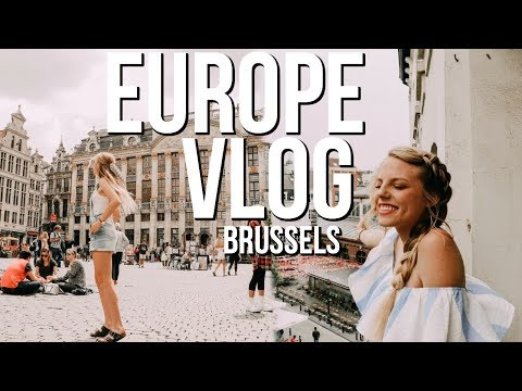 Europe Vlog!!  Part 2 // Belgium | Trying the world's best waffles!!