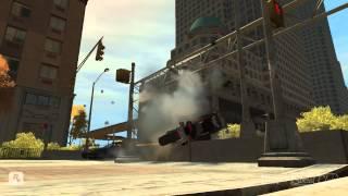 GTA 4 - Аварии, трюки и падения (Stunts and Crashes) #3