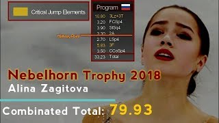 Alina Zagitova (Алина Загитова) - Nebelhorn Trophy 2018 SP - Phantom of the Opera + Glass Shatter.