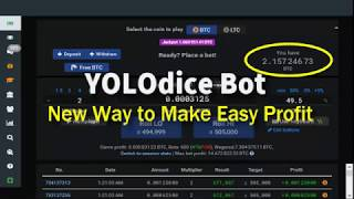 YoloDice Bot 2018 (Make BTC on Auto Pilot)