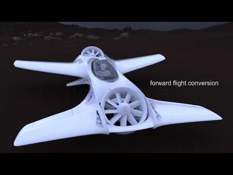 Futuristic DR-7 VTOL Aircraft by Delorean Aerospace - Tuvie