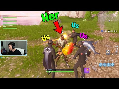 She was the nicest DEFAULT SKIN, so we PROTECTED Her.. (Fortnite Challenge)