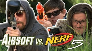 Airsoft vs Nerf 5 - Paintball Finale