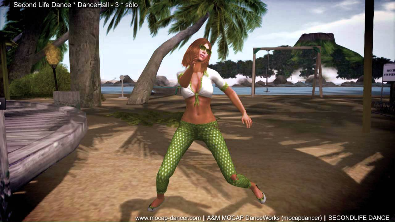 SL - DanceHall-3 solo - 3D dance animation for Second Life
