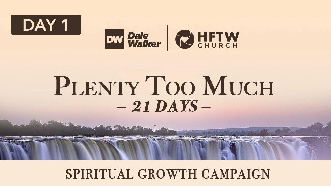 """Day 1 - 21 Days of """"Plenty Too Much"""""""