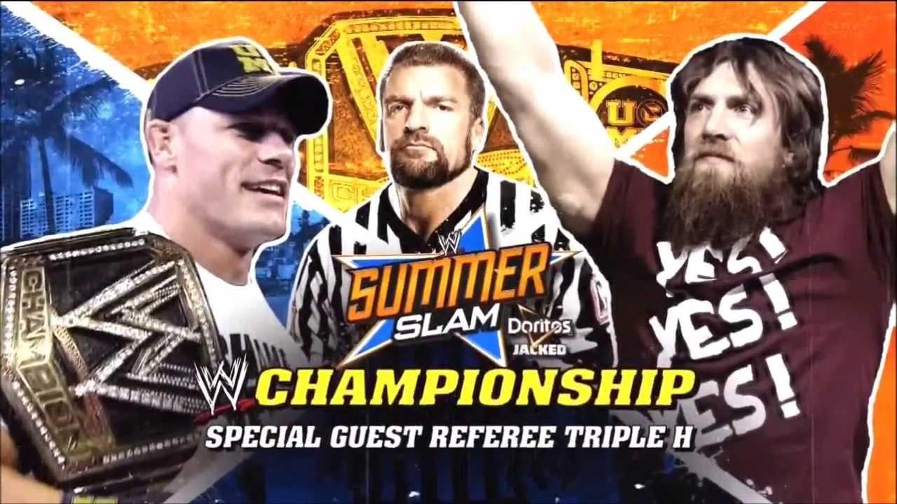 WWE Summerslam 2013 Official Match Card (HD) - YouTube