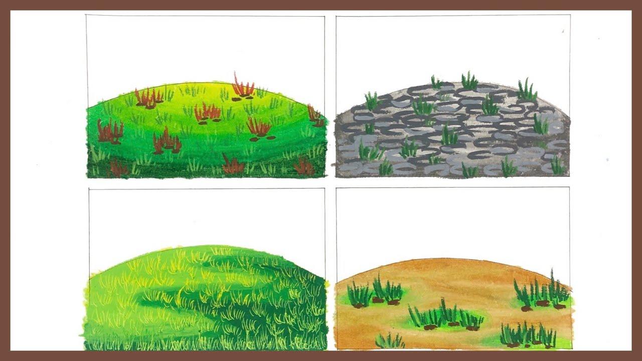 4 Cara Mewarnai Gradasi Tanah