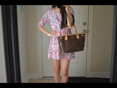 1776352c65b OOTD feat. the Louis Vuitton Neverfull PM Monogram Purse Bag + Mini Review