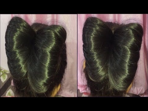Easy Way To Make Bow Hairstyle Easy Bow Hairstyle Bow Bow