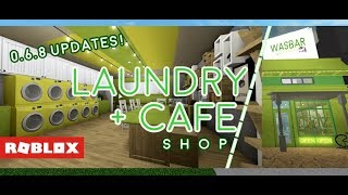 Roblox Bloxburg - Laundry Cafe (New Updates!)