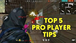 FREE FIRE | TOP 5 PRO PLAYER TIPS FREE FIRE !!! | NEW PRO TIPS AFTER UPDATE !!!