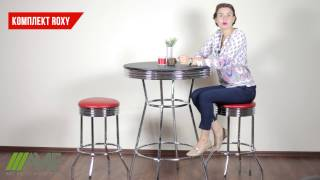 Комплект Roxy красный стол барный. Обзор мебели для бара от amf.com.ua (снят с производства)