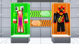 I Transformed into Unspeakable! (Minecraft Brain Swap)