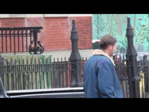 Tom Hardy and John Ortiz on set of the