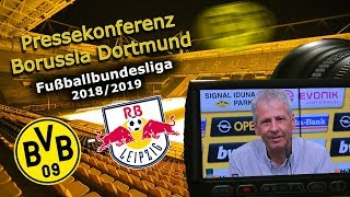 Borussia Dortmund - RB Leipzig: Pk mit Lucien Favre und Michael Zorc