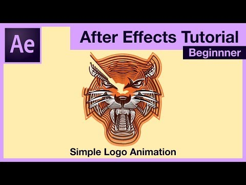 After Effects Tutorial - How to make simple youtube logo animation