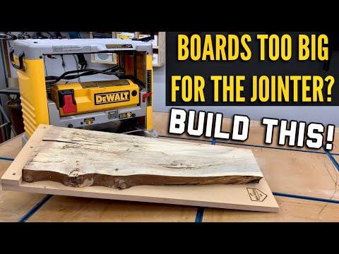 How to make a DIY planer sled / planer jig