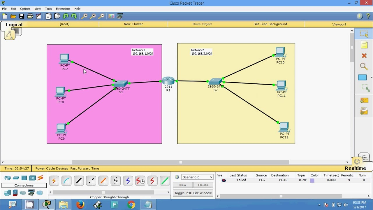 How to Connect two Networks using a router - YouTube