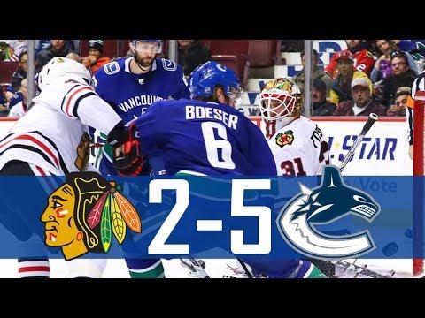 Canucks vs Blackhawks | Highlights | Dec. 28, 2017 [HD]