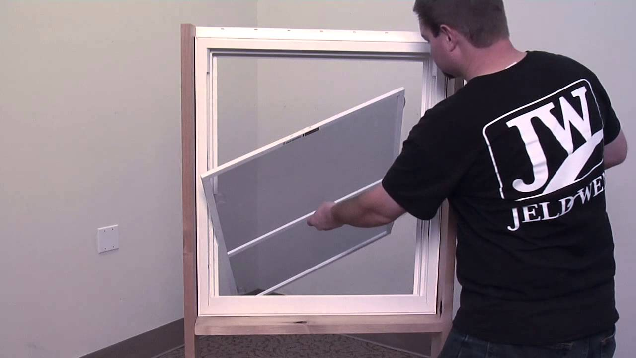 Double Hung Window Pull Tab Spring Loaded Screen Removal